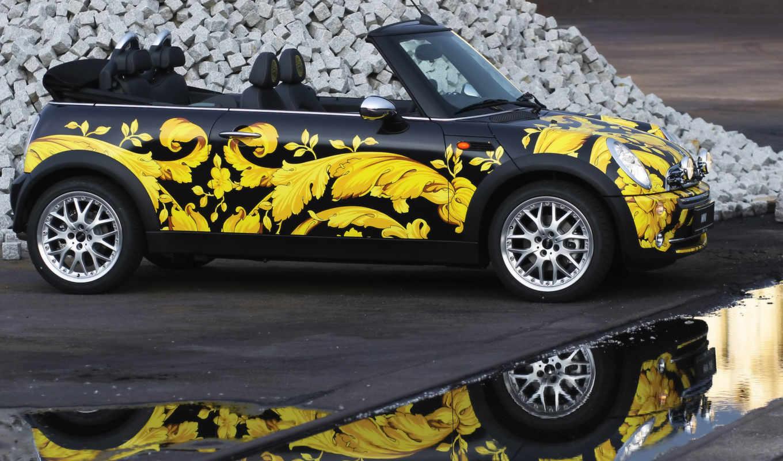 mini, versace, cabrio, cooper, автомобили, за, cabriolet, donatella, версаче, донателлы, дизайном, side, авто,