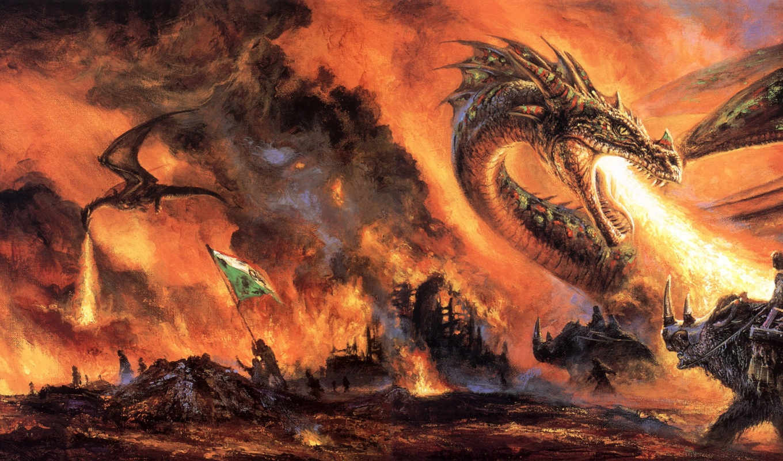 fantasy, eggleton, bob, фантастика, дракон, artist, art, picturi, фэнтази, пламя, огонь, всадник, война, digital, amazon, работ, darkness, part, collection, phombo, bild, photo, images,