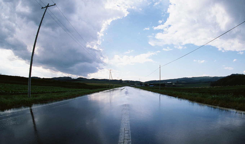 дорога, дороги, water, дождь, пост,