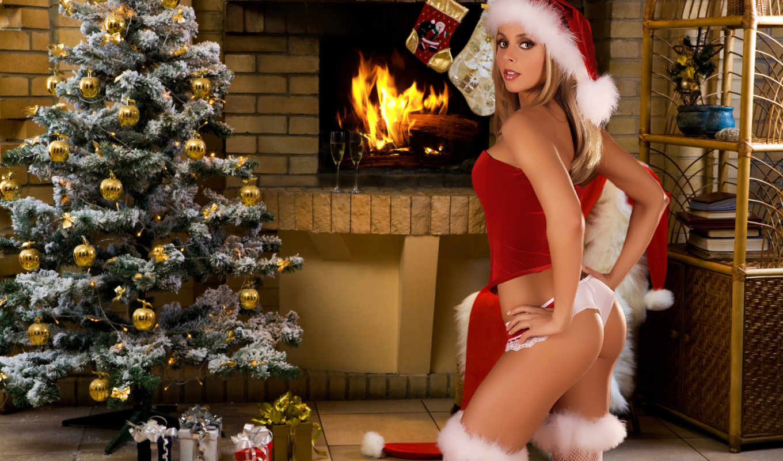 год, new, christmas, devushki,