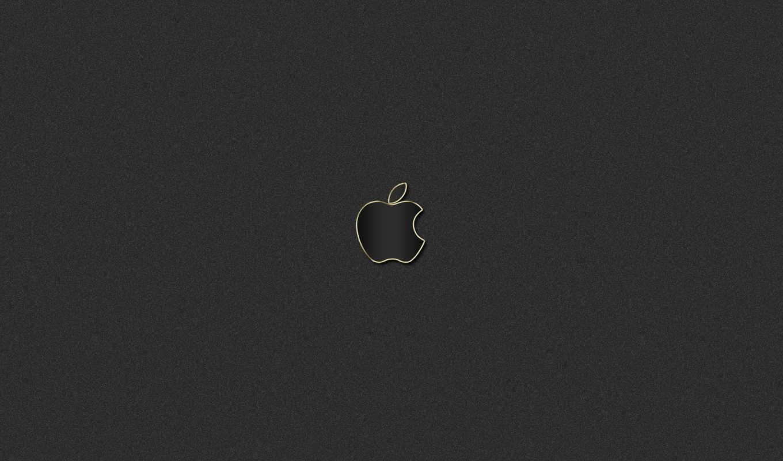 apple, logo, grey