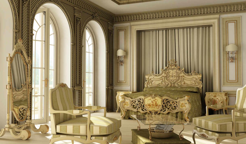 стиль, интерьер, luxury, versailles, интерьере, стиля, спальня,