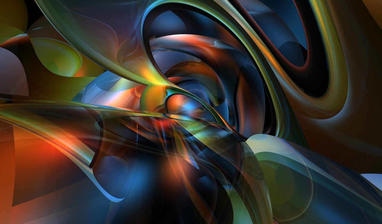абстракция, рендер, графика, pattern, full,