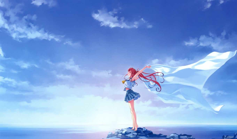 art, anime, misaki, blue, dream, girls, saber, bulkodav, deep,