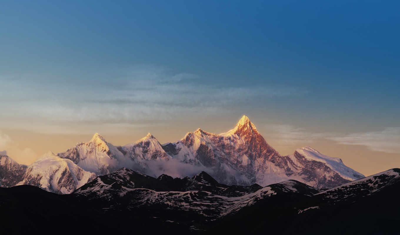 zte, nubia, горы, небо, mountains, снег,