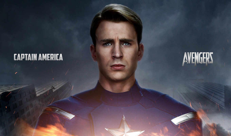 captain, america, chris, evans,