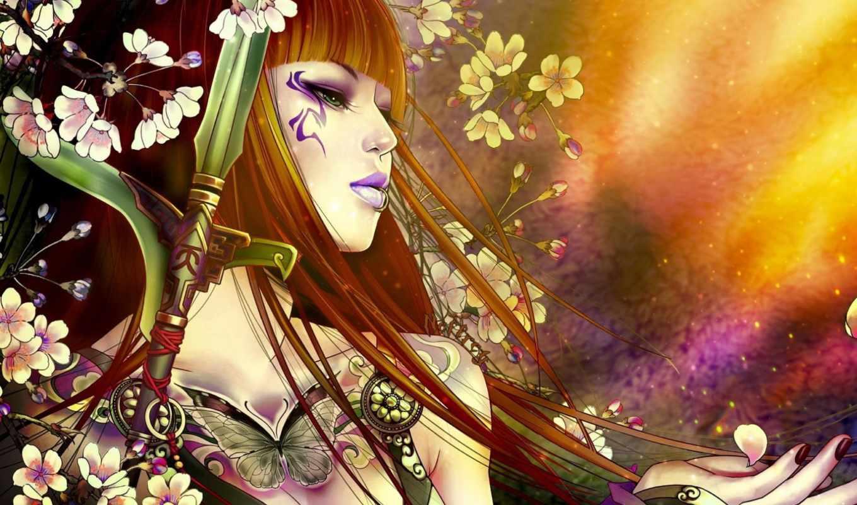 fantasy, devushki, девушка, бабочки, коллекция, цветы, природа,