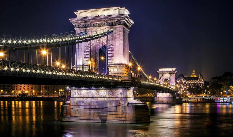budapest, lánchíd, széchenyi, река, magyarország, iphone, город,