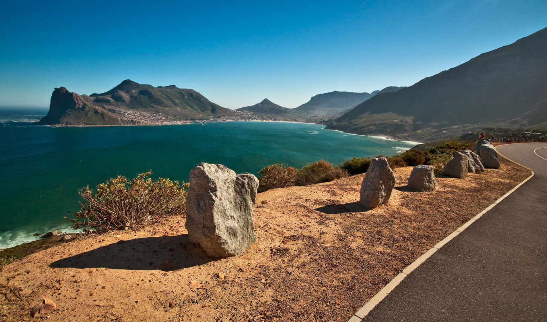 море, горы, landscape, park, дорога, картинка, камни,