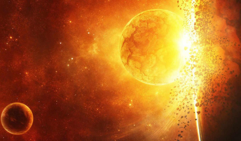 взрыв, space, огонь, свет, art,