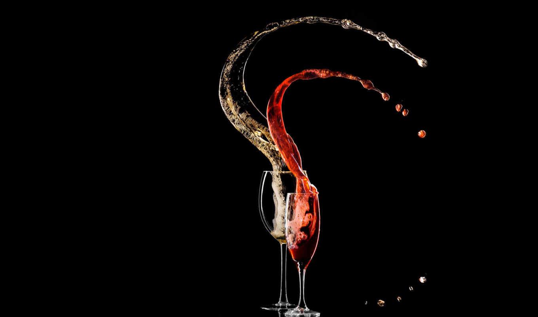 вино, бокал, напиток, минимализм, кисти, siyah, ipad,
