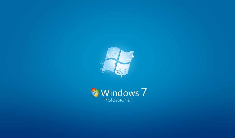 windows 7, обои, фон, голубой