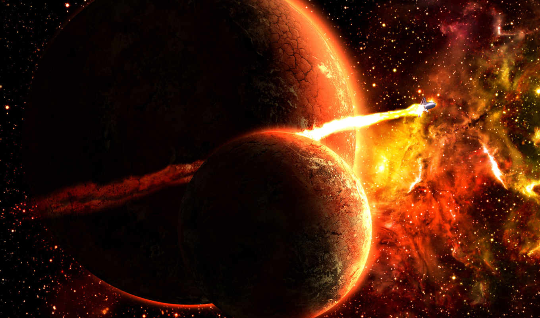 ракета, планета, картинку, спутник, star, planets, огонь, мыши, space, картинка, spaceship, кнопкой, desktop, free, широкоэкранные, земли, art,