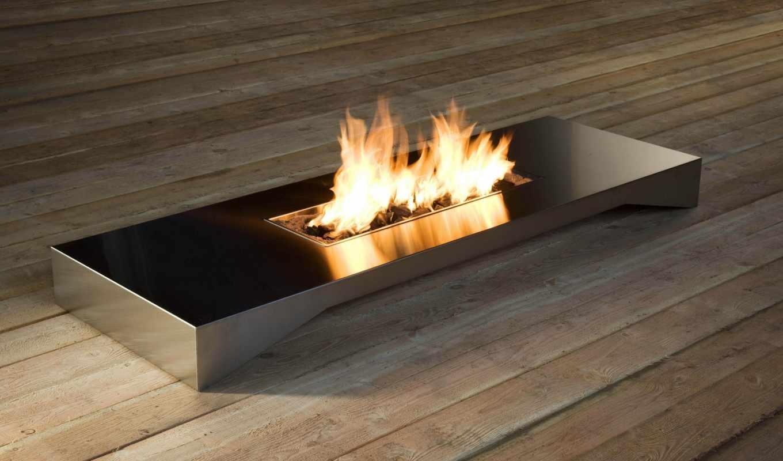 камин, огонь, дизайн, картинка,