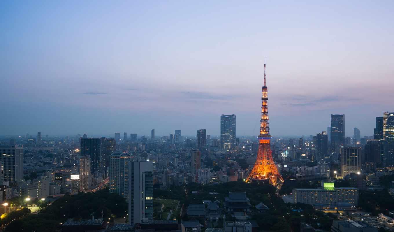 янв, tokyo, вечер, мира, подборка, мб, башня, красивыми, городами, сумерки, огни,