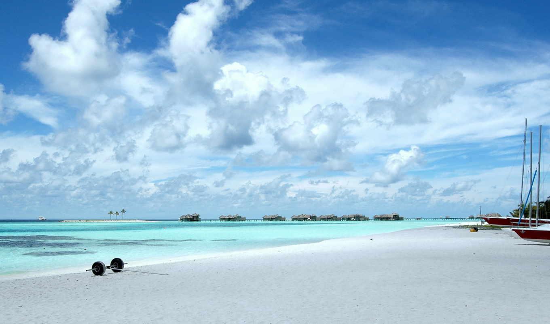 природа, пляж, maldives, банка, summer, качества, небо, хорошего, года, песок,
