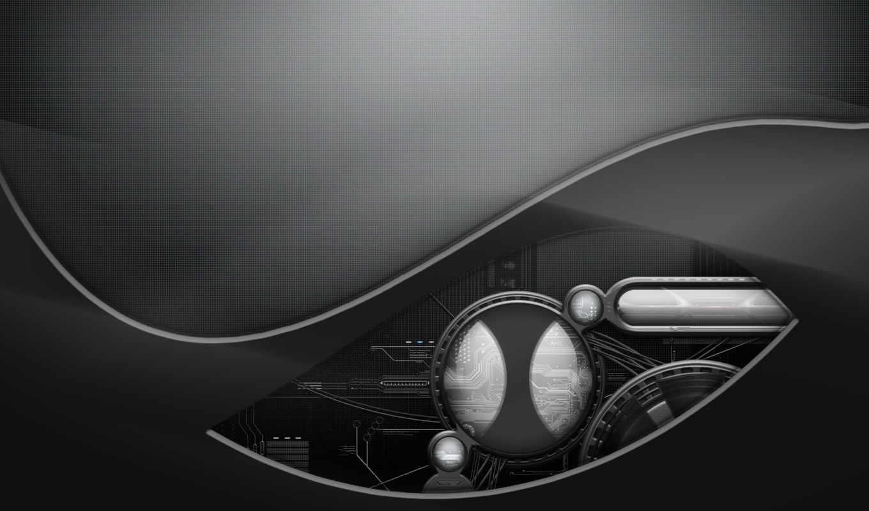 tech, dark, проем, минимализм, техно, grey, разрешении, устройство, металл, abstract, desktop, www,