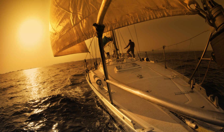 спорт, яхта, вода, море, парусники, человек, лодки, люди, лодка, картинка, закате, картинку, яхт, солнце,