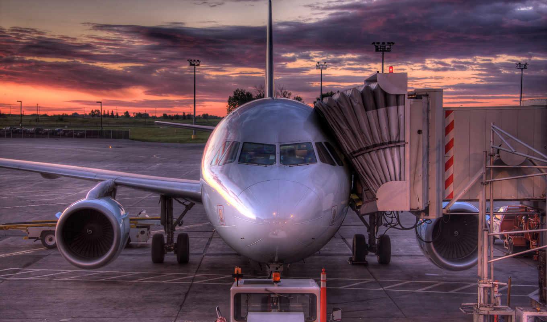 aircraft, sunset, aviation, sky,