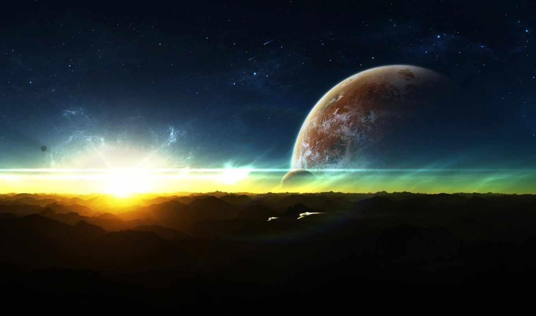 космос, вспышка, планеты, корабли, фантастика, космические, картинка, картинку, rising,