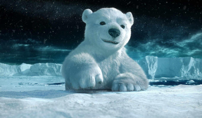 графика, зима, животные, медведь, лед, заполярие,arctic,арктику,рисунки
