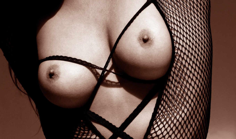 эротика, женская, грудь, черное белье,