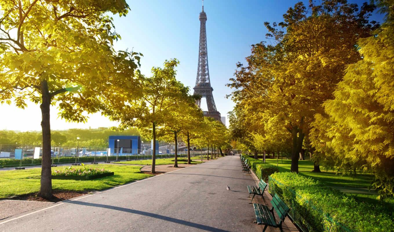 париж, eiffel, башня, франция, картинка,