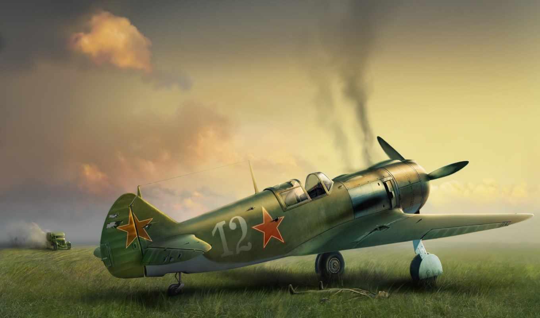 second, world, войны, самолеты, картины, различных, художников, истребители, своих, card,