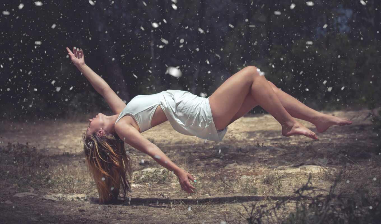 air, поплавок, девушка
