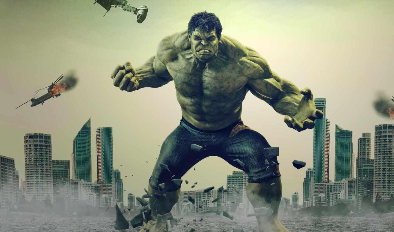 плакат, hulk, art, avenger, incredible, большой, marvel, trailer, movie, альтрон