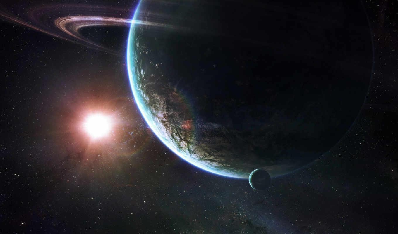 космос, планета, звезды, солнце, infinity, кольцо, планеты, картинку, будущее, black, картинка,