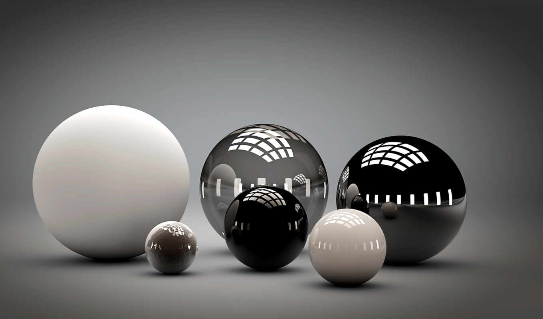 трехмерной, графикой, фона, spheres, abstract, free, шары,