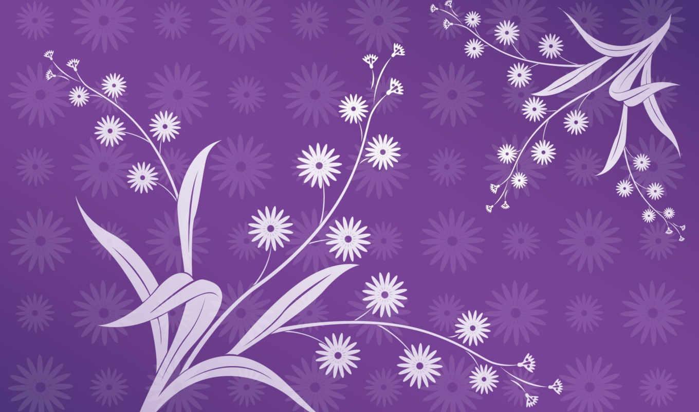 абстракции, абстракция, фиолетовый, листья, цветы,
