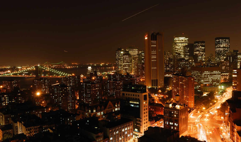 нью, new, york, чёрно, мост, белые, бруклин, йорка,