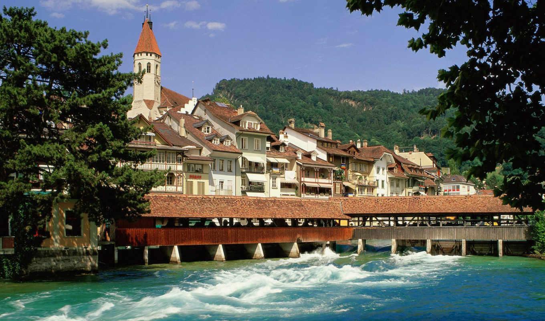 thun, швейцария, страны, города, великолепных, сборник, svájc,