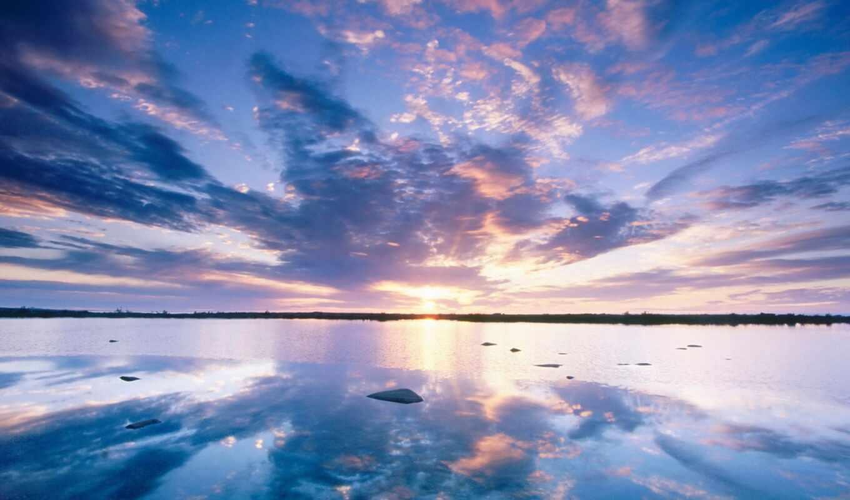 закат, небо,