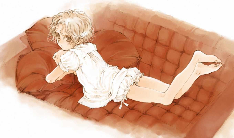 anime, boys, boy, trap, blondes, платье,