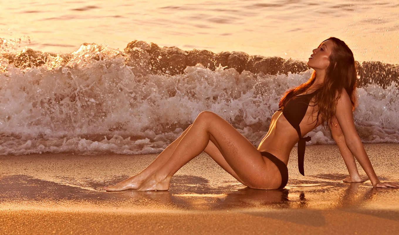 hot, девушка, sexy, mix, пляж, print, gorgeous, плакат, trap, lying, закат,
