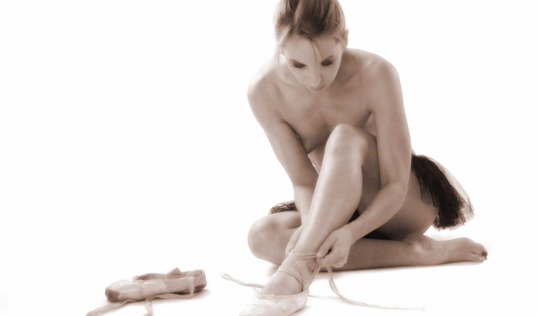 девушки, балерины, красивые, голый,
