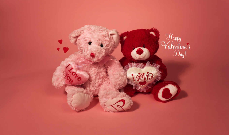 день, happy, valentines, valentine, роза, teddy, love,