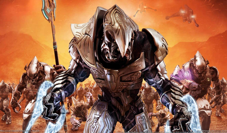 доспех, halo, оружие, spear, военные, монстры, корабли, солдат, скалы,