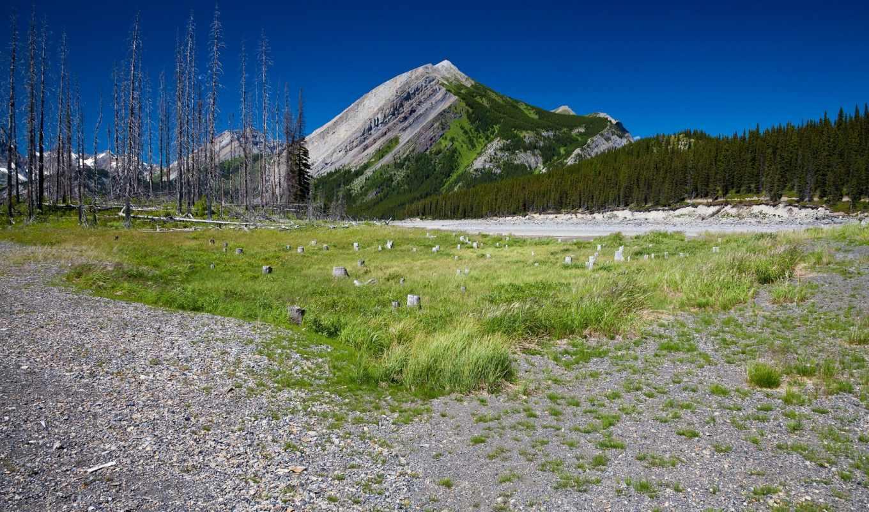взгляд, гору, горы, трава, красивый, разных, разрешениях, небо, getbg, природа, tech,