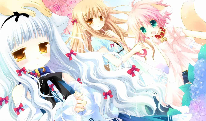 princess, sister, anime, гымт, resolution, wanko, cute, kitsune, lily, sakurazawa, izumi, scenery, girl, desktop,