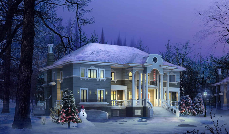 house, домов, architecture, колоннами, дома, подобраны, категории, интерьера, бассейном,