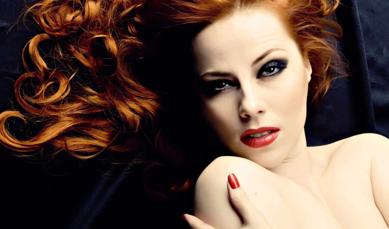 волос, волосы, рыжими, девушки,