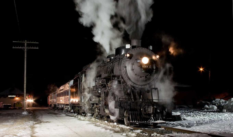 дорога, взгляд, поезд, summer, поле, дым,