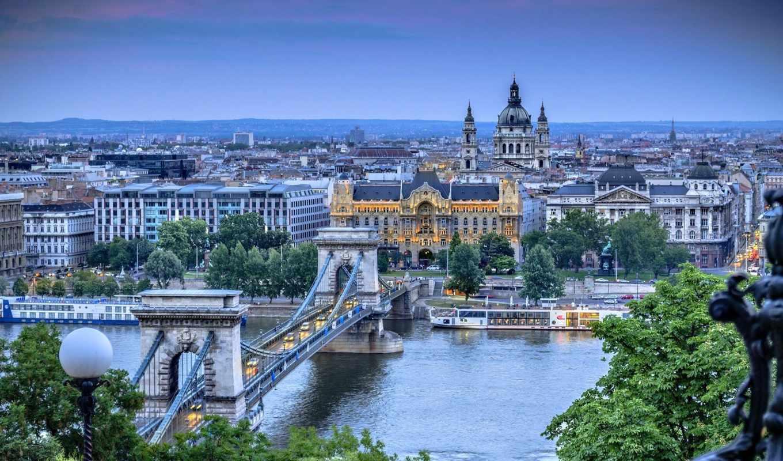 hungary, budapest, мост, цепь, город,