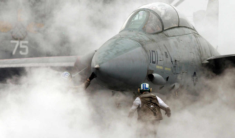 авианосец, самолёт, истребитель, авиация, takeoff, дым, sou, ocean, палуба, wallbox, миг,