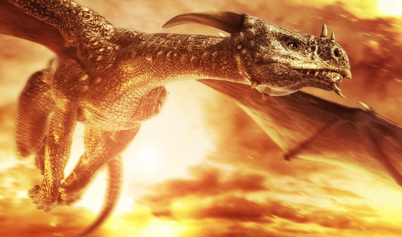 дракон, flying, reptile, змей