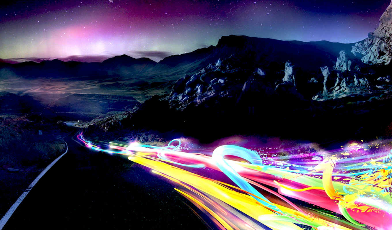 light, traces, mountain, color, download,
